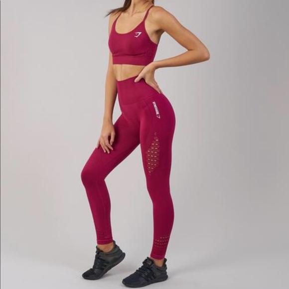 ad2e21807a030f Gymshark Pants - GYMSHARK ENERGY SEAMLESS - BEET(S)